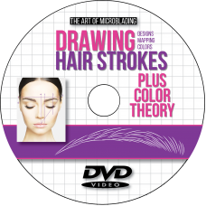 Microblading Drawing Hair Strokes Plus Color Theory DVD, Designs, Mapping, Colors